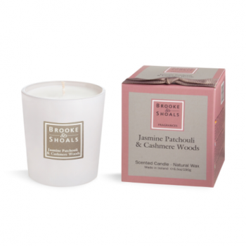 Brooke And Shoals Jasmine Patchouli and Cashmere Woods Candle