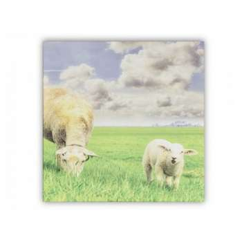 The Grange Collection Mum & Baby Sheep Canvas
