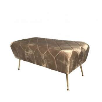 The Grange Collection Taupe Velvet Bench