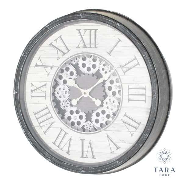 Tara Home Clockworks Gears Clock Antique Grey