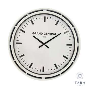 Tara Home Grand Central Clock Ivory Gloss