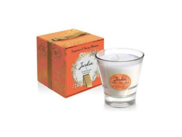 Tipperary Crystal Tangerine & Honey Blossom Candle
