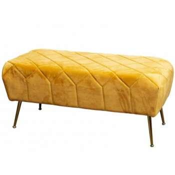 The Grange Collection Mustard Velvet Bench