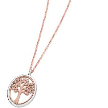 Oval Tree Of Life Pendant Rose Gold From Tipperary Crystal