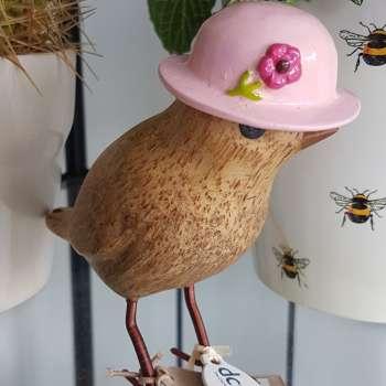 Flower Garden Bird with a Light Pink Hat From Dcuk