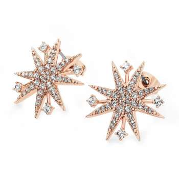 Star Bright Rose Gold Earrings From Tipperary Crystal