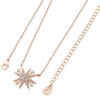 Star Bright Rose Gold Pendant From Tipperary Crystal