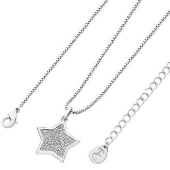 Star Shaped Pave Pendant silver From Tipperary Crystal
