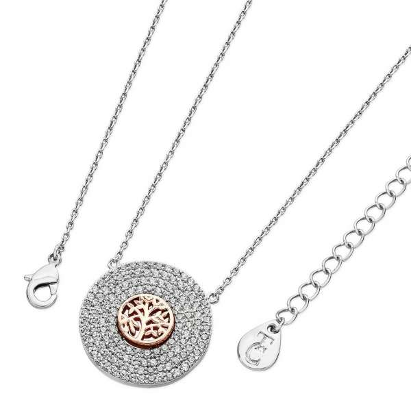 Silver Pave Pendant With Tree Of Life From Tipperary Crystal
