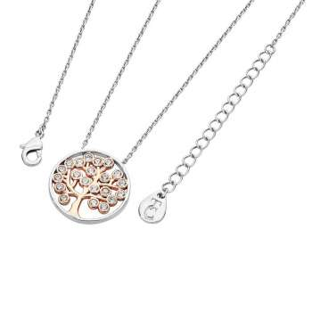 Two Tone Silver Tree Of Life Pendant From Tipperary Crystal