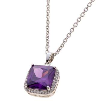 Belleek Living Jewellery Amethyst Necklace