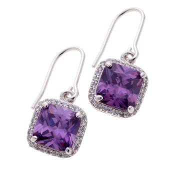 Belleek Living Jewellery Amethyst Earrings