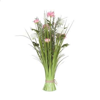 Grass Floral Bundle Pink & White Peony