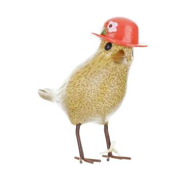 Flower Garden Bird with a Strawberry Red Hat From Dcuk