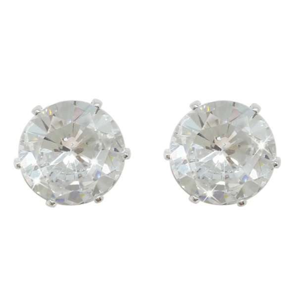 Silver Stud Earrings Clear Stone From Tipperary Crystal