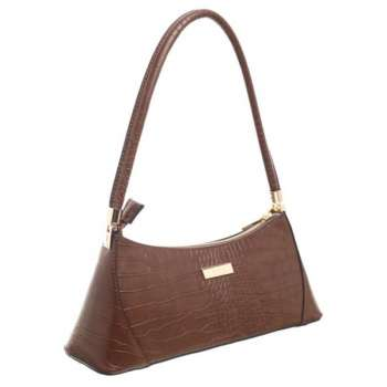 Bessie Urban Small Croc Print Shoulder Bag Coffee