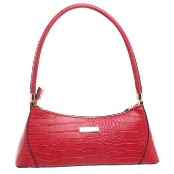 Bessie Urban Small Croc Print Shoulder Bag Red