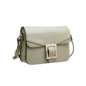 Bessie Buckle Flap Over Mint Green Cross Body Bag