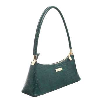 Bessie Urban Small Croc Print Shoulder Bag Green