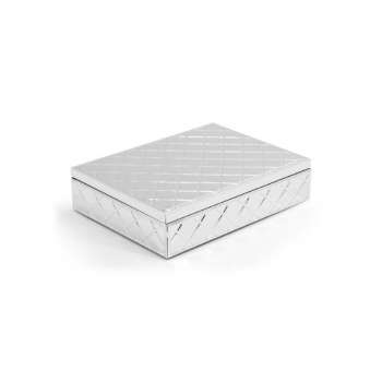 Tipperary Crystal Silver Pillow Jewellery Box