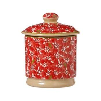 Nicholas Mosse Lidded Sugar Bowl Lawn Red
