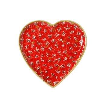 Nicholas Mosse Heart Plate Red Lawn
