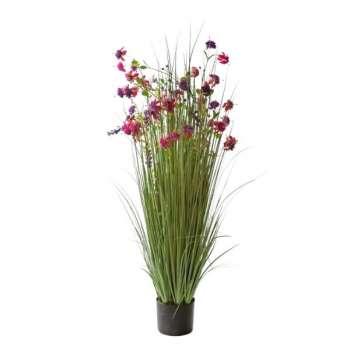 Grass Floral Bundle Purple Flowers Potted 120cm