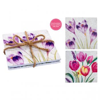 Floral Slate Coasters 2's
