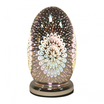 3D Dome Touch Lamp Peacock