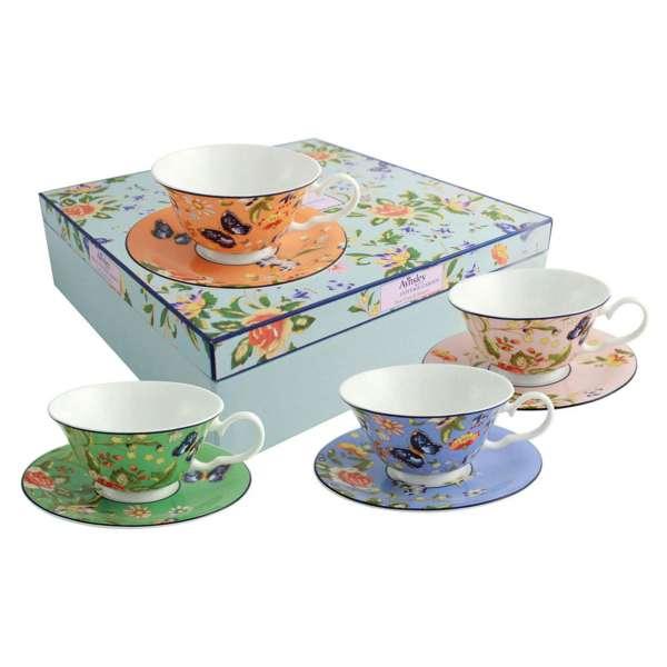 Aynsley Cottage Garden Windsor Teacup & Saucer Set