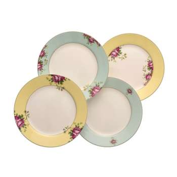 Aynsley Archive Rose 4 Side Plate Set