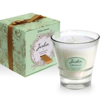 Tipperary Crystal Jardin White Jasmine Candle