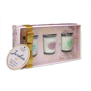 Jardin Collection Set 3 Candles From Tipperary Crystal