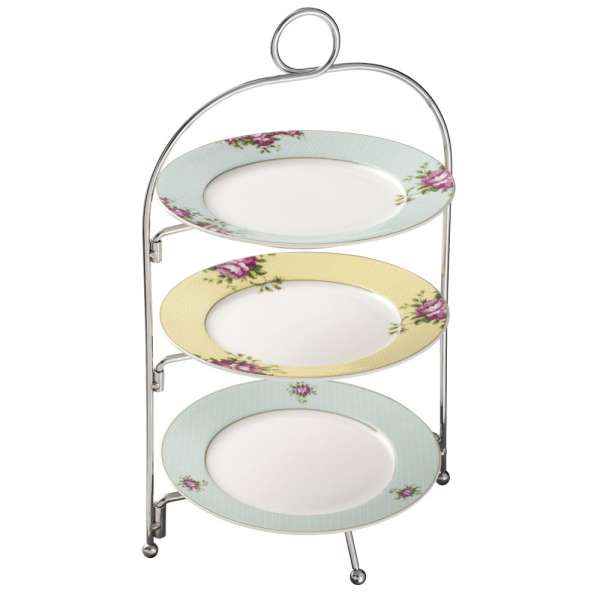 Aynsley Cottage Garden Three Tier Metal Plate Stand