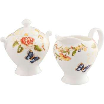 Aynsley Cottage Garden Cream Jug & Sugar Bowl