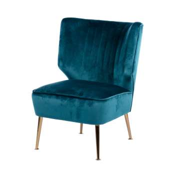 Accent Chair Teal Velvet From Tara Home