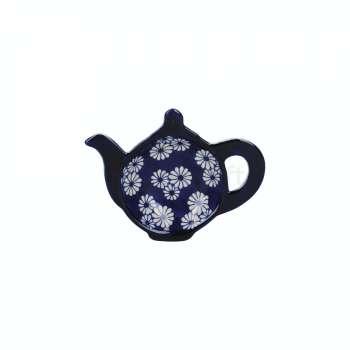 Ceramic Tea Bag Tidy Small Daisies