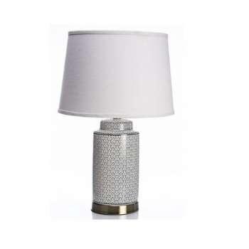 The Grange Ceramic Cylinder Weave Lamp
