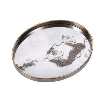 Mindy Brownes Oval Mirrored Alpha Tray