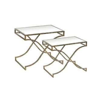 Mindy Brownes Madison Mirror Top Tables Set of 2
