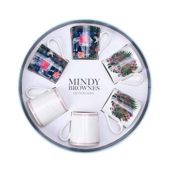Mindy Brownes Jungle Frenzie Cups Set Of 6