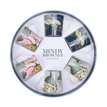 Mindy Brownes Natures Bloom Cups Set Of 6