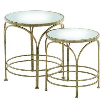 Mindy Brownes Ethan Mirrored Nest of Tables