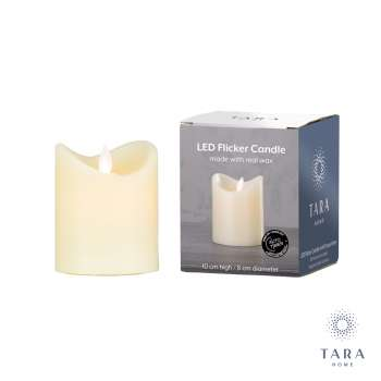 Tara Home Flicker Led Candle Ivory 10cm With Timer