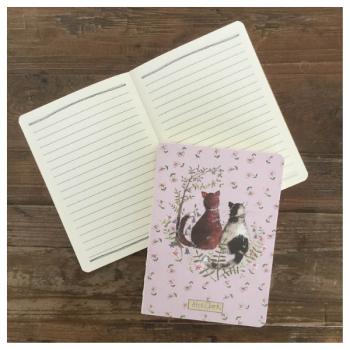 Alex Clark Cats Naked Spine Notebook