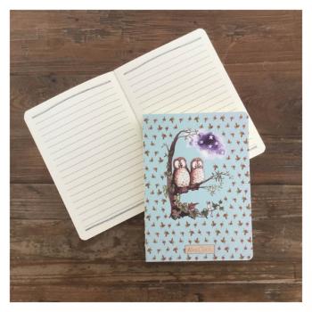Alex Clark Owls Naked Spine Notebook