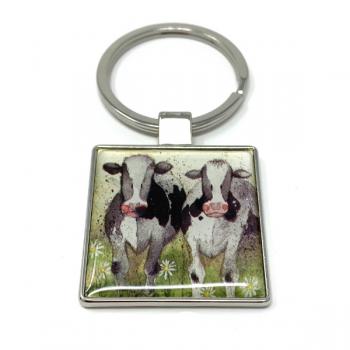 Alex Clarke Curious Cows Keyring