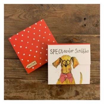 Alex Clarke SPECtacular Scribbles Dog Mini Magnetic Notepad