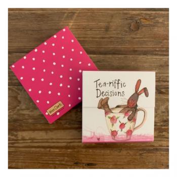 Alex Clarke Tea-riffic Decisions Hare Mini Magnetic Notepad