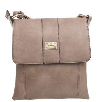 Bessie Two Pocket Cross Body Bag Beige